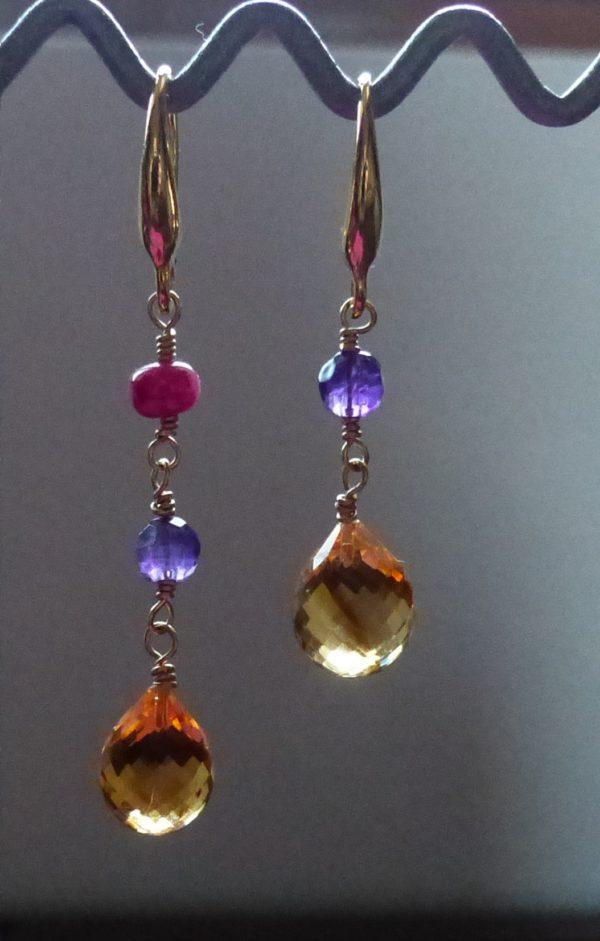 Boucles d'oreille Perles Marie-Antoinette