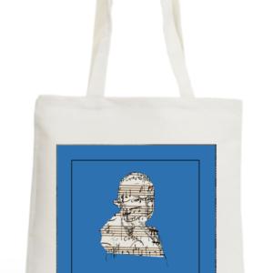 Tote Bag bleu Mozart