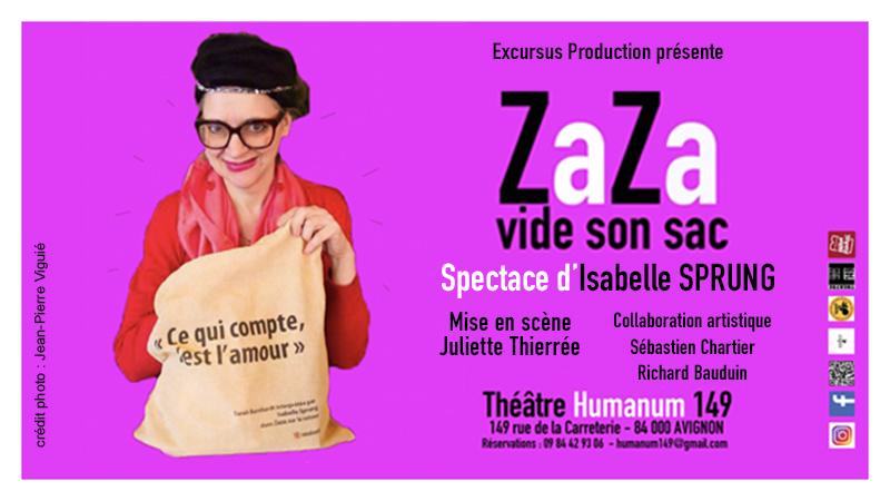 Zaza vide son sac à Avignon